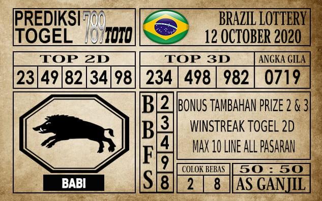 Prediksi Brazil Lottery Hari Ini 12 Oktober 2020
