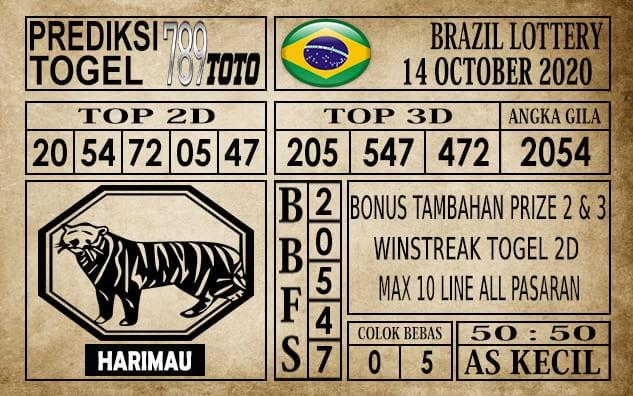 Prediksi Brazil Lottery Hari Ini 14 Oktober 2020