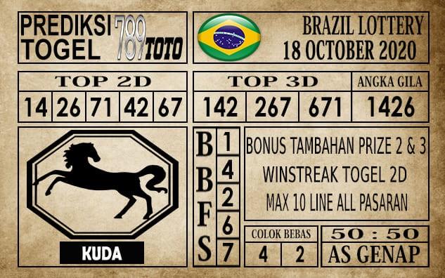 Prediksi Brazil Lottery Hari Ini 18 Oktober 2020