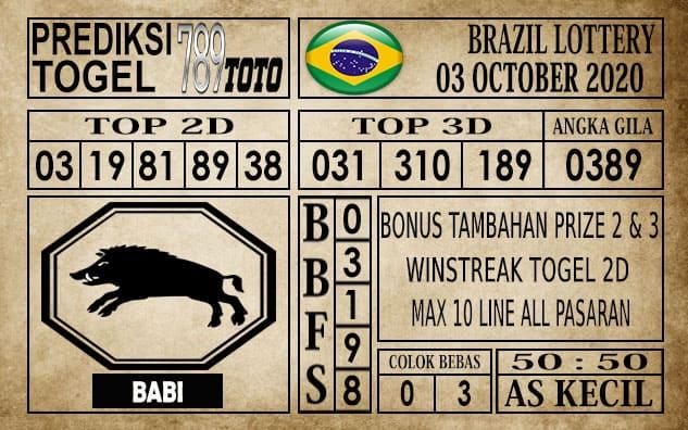 Prediksi Brazil Lottery Hari Ini 04 Oktober 2020
