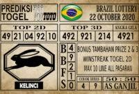 Prediksi Brazil Lottery Hari Ini 22 Oktober 2020