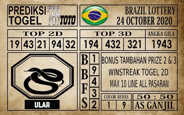 Prediksi Brazil Lottery Hari Ini 24 Oktober 2020