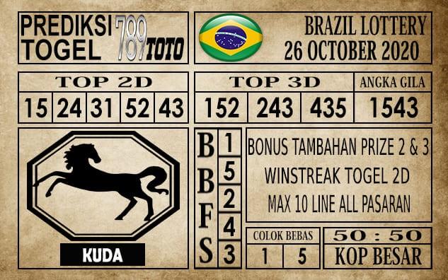 Prediksi Brazil Lottery Hari Ini 26 Oktober 2020