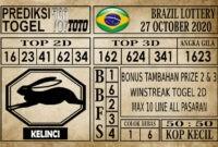 Prediksi Brazil Lottery Hari Ini 27 Oktober 2020