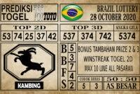 Prediksi Brazil Lottery Hari Ini 28 Oktober 2020