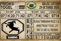 Prediksi Brazil Lottery Hari Ini 29 Oktober 2020