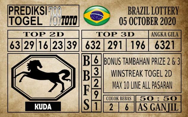 Prediksi Brazil Lottery Hari Ini 05 Oktober 2020
