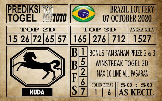 Prediksi Brazil Lottery Hari Ini 07 Oktober 2020