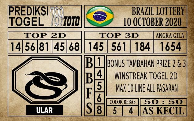 Prediksi Brazil Lottery Hari Ini 10 Oktober 2020