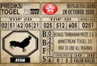 Prediksi Hongkong Siang Hari Ini 28 Oktober 2020