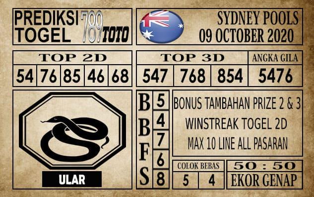 Prediksi Sydney Pools Hari Ini 09 Oktober 2020