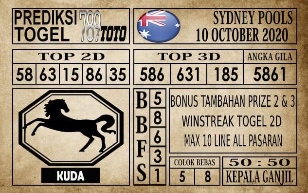Prediksi Sydney Pools Hari Ini 10 Oktober 2020