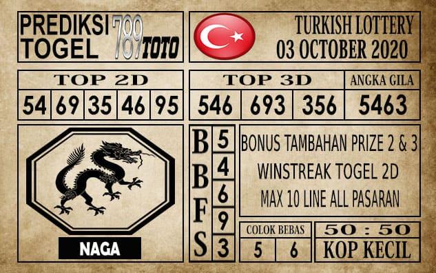 Prediksi Turkish Lottery Hari Ini 04 Oktober 2020
