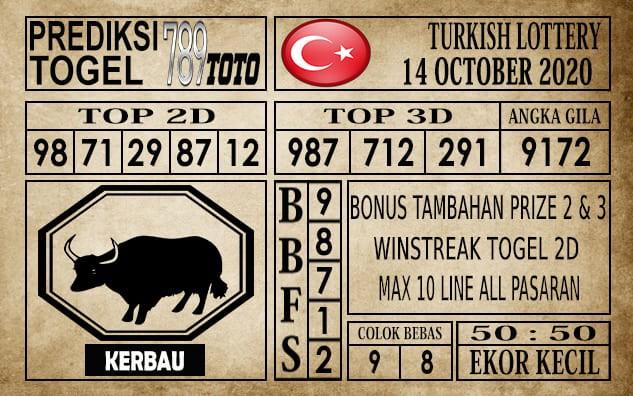 Prediksi Turkish Lottery Hari Ini 14 Oktober 2020