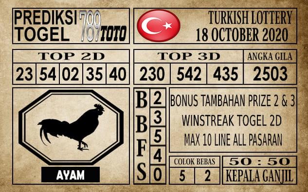 Prediksi Turkish Lottery Hari Ini 18 Oktober 2020