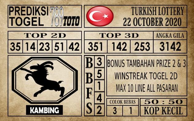 Prediksi Turkish Lottery Hari Ini 22 Oktober 2020