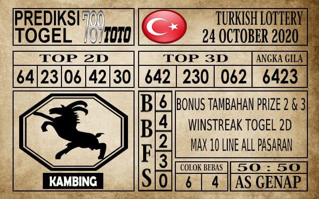 Prediksi Turkish Lottery Hari Ini 24 Oktober 2020