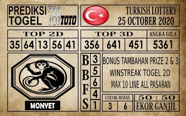 Prediksi Turkish Lottery Hari Ini 25 Oktober 2020