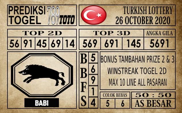 Prediksi Turkish Lottery Hari Ini 26 Oktober 2020