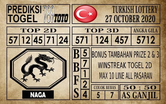 Prediksi Turkish Lottery Hari Ini 27 Oktober 2020