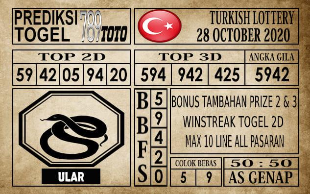 Prediksi Turkish Lottery Hari Ini 28 Oktober 2020