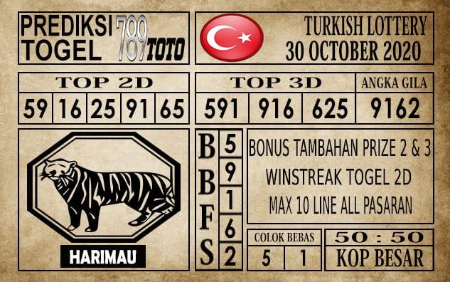 Prediksi Turkish Lottery Hari Ini 30 Oktober 2020