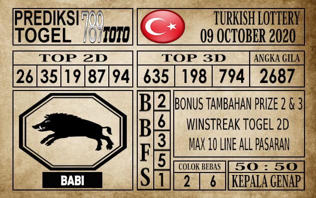 Prediksi Turkish Lottery Hari Ini 09 Oktober 2020