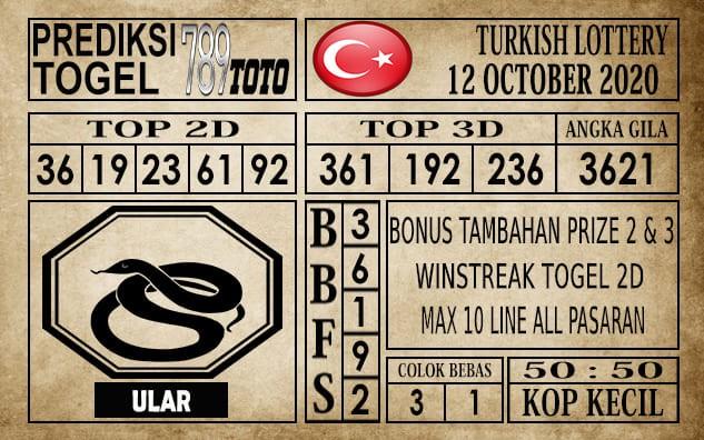 Prediksi Turkish Lottery Hari Ini 12 Oktober 2020