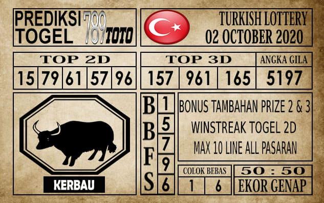 Prediksi Turkish Lottery Hari Ini 02 Oktober 2020
