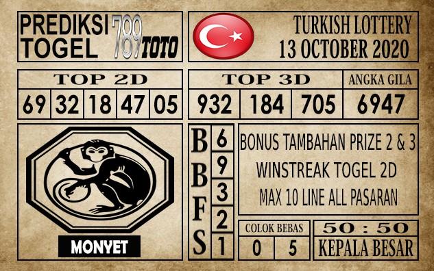 Prediksi Turkish Lottery Hari Ini 13 Oktober 2020