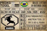 Prediksi Brazil Lottery Hari Ini 19 Oktober 2020