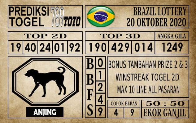 Prediksi Brazil Lottery Hari Ini 20 Oktober 2020