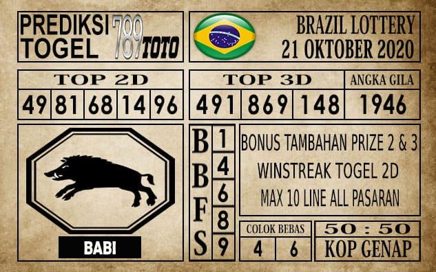 Prediksi Brazil Lottery Hari Ini 21 Oktober 2020