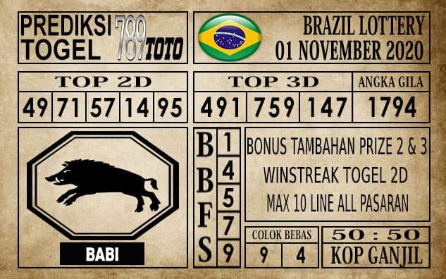 Prediksi Brazil Lottery Hari Ini 01 November 2020