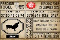 Prediksi Hongkong Pools Hari Ini 27 Oktober 2020