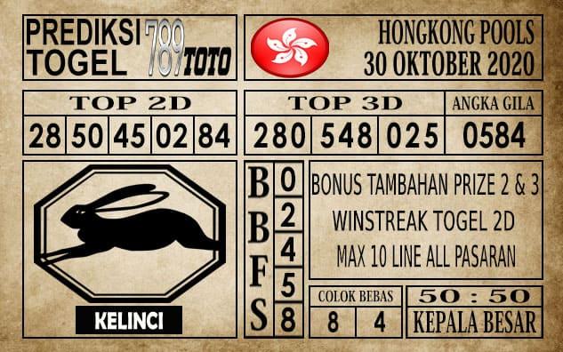 Prediksi Hongkong Pools Hari Ini 30 Oktober 2020