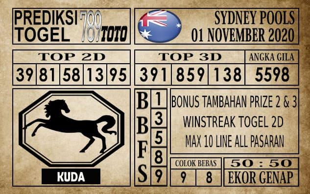 Prediksi Sydney Pools Hari ini 01 November 2020