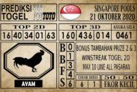 Prediksi Singapore Pools Hari ini 21 Oktober 2020