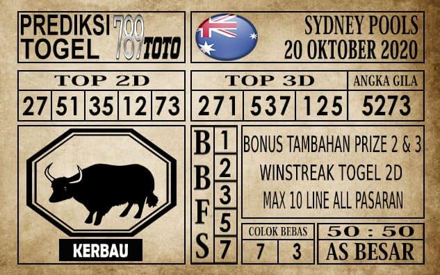 Prediksi Sydney Pools Hari ini 20 Oktober 2020