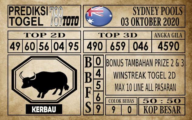 Prediksi Sydney Pools Hari ini 03 Oktober 2020