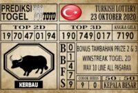 Prediksi Turkish Lottery Hari ini 23 Oktober 2020