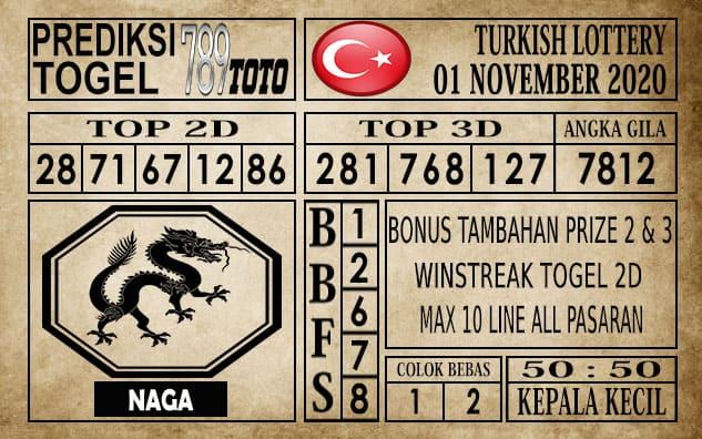 Prediksi Turkish Lottery Hari ini 01 November 2020