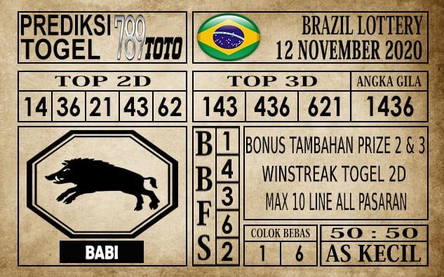 Prediksi Brazil Lottery Hari Ini 12 November 2020