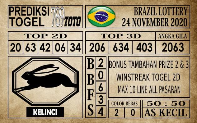 Prediksi Brazil Lottery Hari Ini 24 November 2020