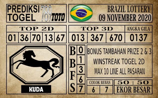 Prediksi Brazil Lottery Hari Ini 09 November 2020