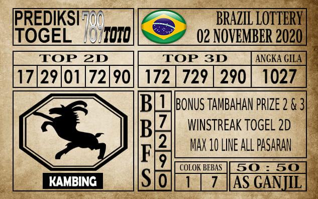 Prediksi Brazil Lottery Hari Ini 02 November 2020