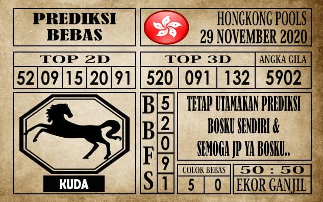 Prediksi Hongkong Pools Hari Ini 29 November 2020