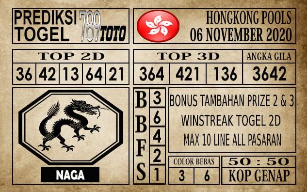 Prediksi Hongkong Pools Hari Ini 06 November 2020