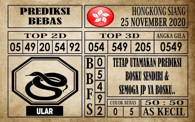 Prediksi Hongkong Siang Hari Ini 25 November 2020