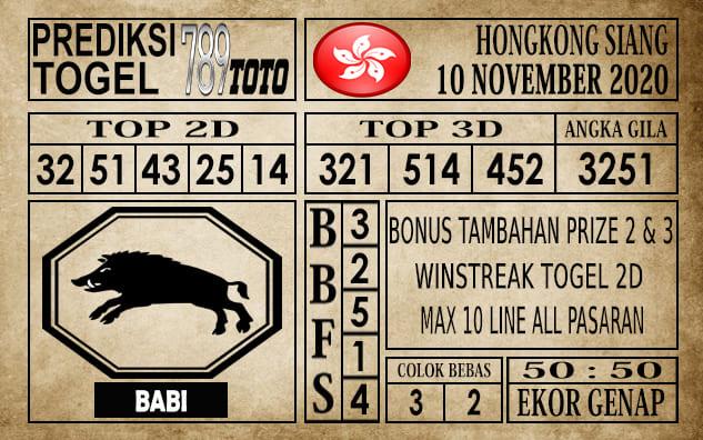 Prediksi Hongkong Siang Hari Ini 10 November 2020